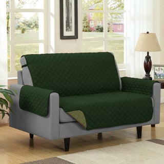 Reversible Quilted Microfiber Loveseat Furniture Protector