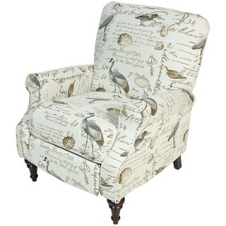 Delicieux Porter Aviary Handwritten Bird Life Pushback Reclining Chair With Turned  Legs