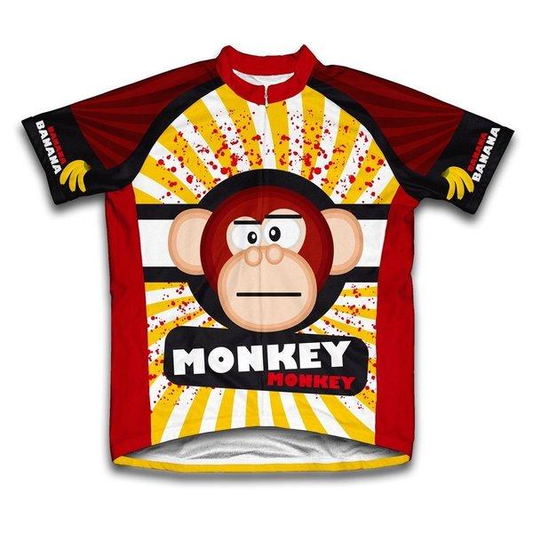 Scudo Crazy Banana Monkey Microfiber Short-sleeved Cycling Jersey