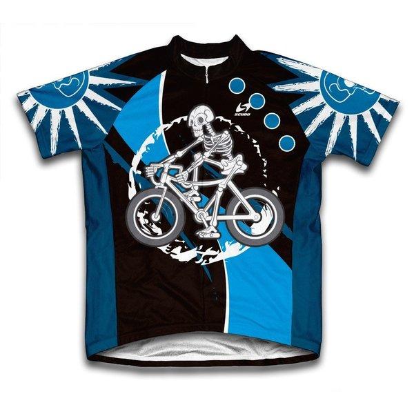 Scudo Skeleton Biker Microfiber Short-Sleeved Cycling Jersey
