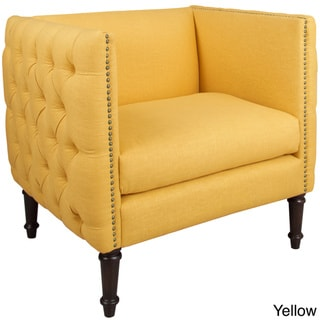 Skyline Furniture Linen-Upholstered, Tufted Accent Chair