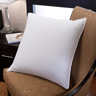 Cotton Fabric Feather-Down Blend 26-inch Euro Square Pillow