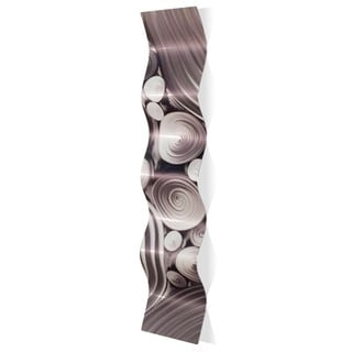Nicholas Yust 'Interdiffusion Wave' Wavy Metal Art on Metal