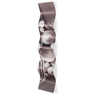 Nicholas Yust 'Interdiffusion Wave' Wavy Metal Art on Metal (As Is Item)