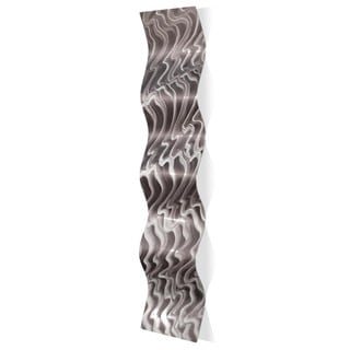 Nicholas Yust 'Polar Wave' Wavy Metal Art on Metal
