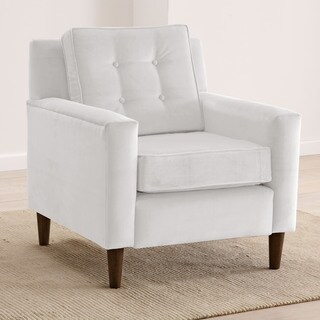 Skyline Furniture Velvet-Upholstered, Tufted Accent Chair (More options available)