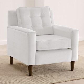 Skyline Furniture Velvet Upholstered, Tufted Accent Chair