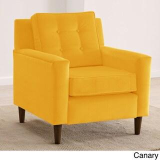Skyline Furniture Velvet-Upholstered, Tufted Accent Chair