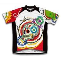 Scudo Elegant Skull Microfiber Short-Sleeved Cycling Jersey
