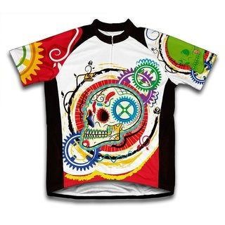 Scudo Elegant Skull Microfiber Short-Sleeved Cycling Jersey (5 options available)