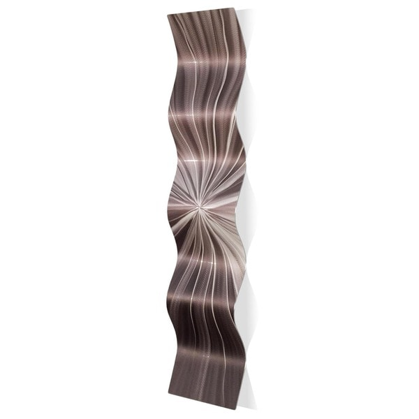 Nicholas Yust 'Tantalum Wave' Wavy Metal Art on Metal