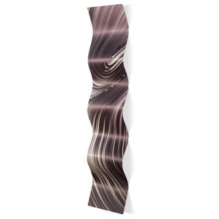 Nicholas Yust 'Fusion Wave' Wavy Metal Art on Metal
