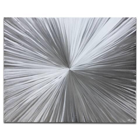 Helena Martin 'Bursting' Sunburst Metal Art on Natural Aluminum
