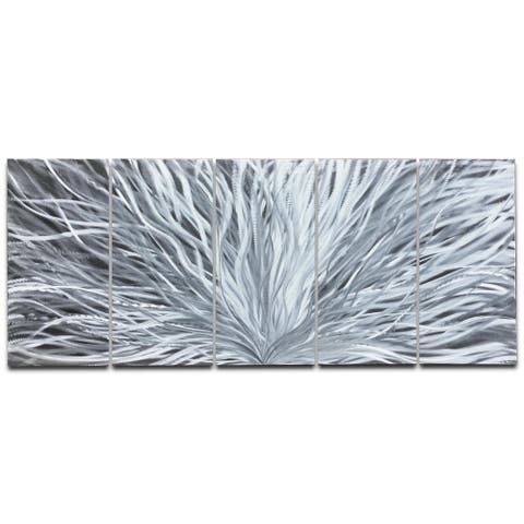 Helena Martin 'Blooming' Abstract Metal Art on Natural Aluminum