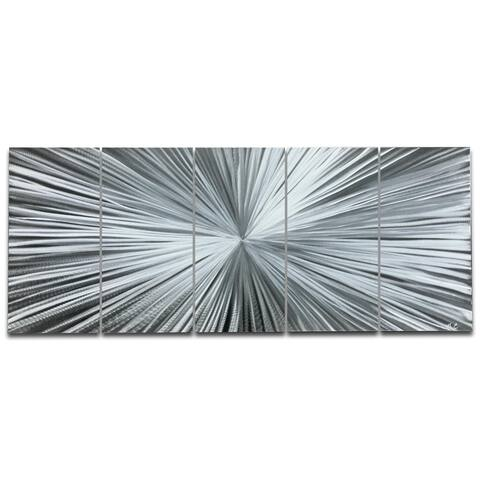 Helena Martin 'The Light' Starburst Metal Art on Natural Aluminum