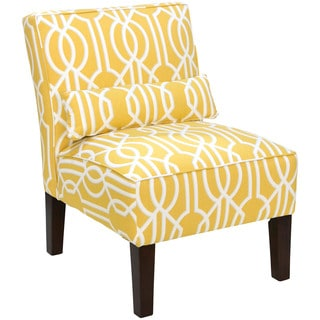 Skyline Furniture Sunshine Yellow Deco Barley Accent Chair