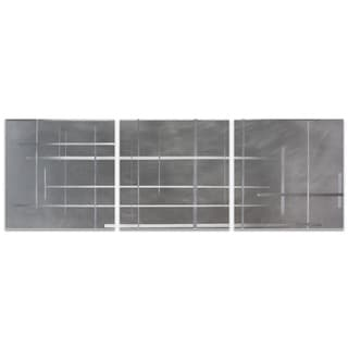 Nicholas Yust 'Lattice Triptych' Minimalist Metal Art on Metal or Acrylic