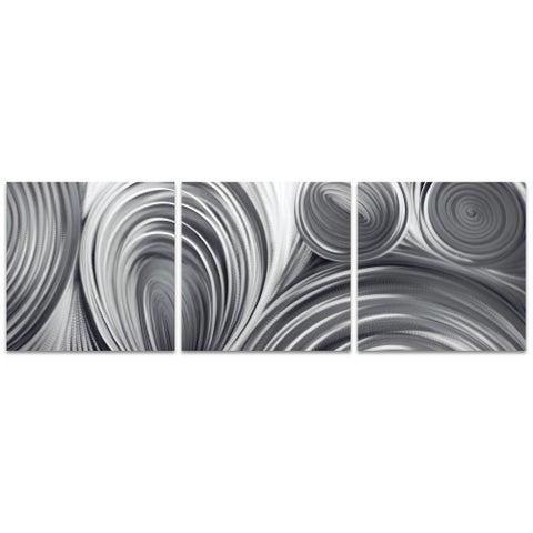 Nicholas Yust 'Conduction Triptych' Metal Circles Art on Metal or Acrylic