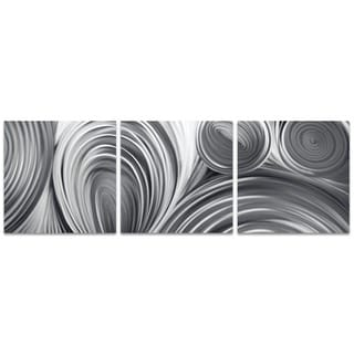 Nicholas Yust 'Conduction Triptych' Metal Circles Art on Metal or Acrylic