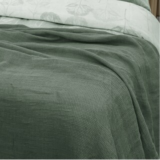 YUE Home Textile Twin-size Linen Waffle Blanket