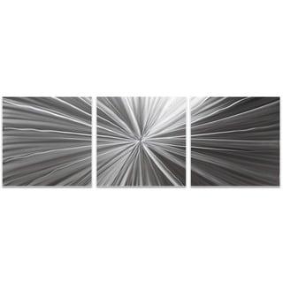 Nicholas Yust 'Tantalum Triptych' Starburst Metal Art on Metal or Acrylic