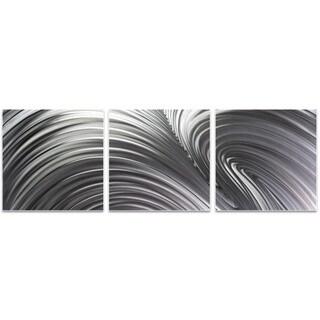 Nicholas Yust 'Fusion Triptych' Wave Metal Art on Metal or Acrylic