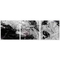 Emley 'Storm Black Triptych' Black Metal Art on Metal or Acrylic
