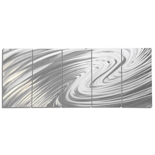 Nate Halley 'The Wave' Modern Metal Art on Natural Aluminum