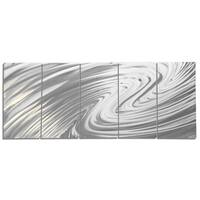 Helena Martin 'The Wave' Modern Metal Art on Natural Aluminum