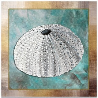 Megan Duncanson 'Silver Lining Sea Urchin' Beach Decor on Metal or Acrylic