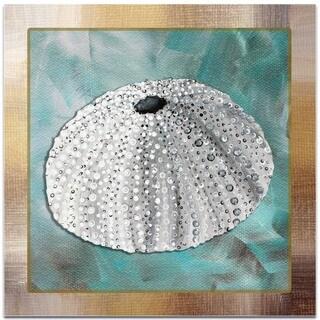 Megan Duncanson 'Silver Lining Sea Urchin' Beach Decor on Metal or Acrylic