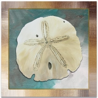 Megan Duncanson 'Silver Lining Sand Dollar' Beach Decor on Metal or Acrylic