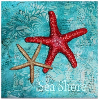 Megan Duncanson 'Sea Shore' Starfish Wall Art on Metal or Acrylic
