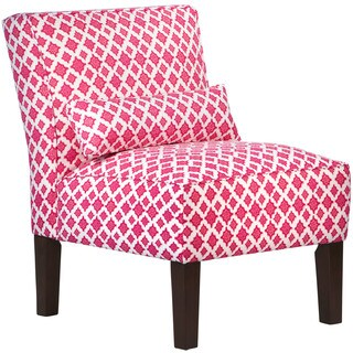 Skyline Trevi Mulberry Fabric Accent Chair