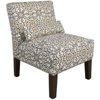 Skyline Furniture Souvenir Scroll Fog Fabric Accent Chair