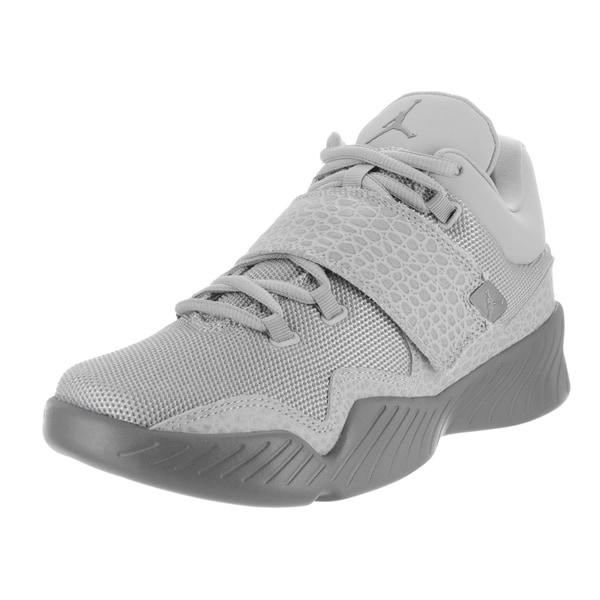 277eeeafb23 Shop Nike Jordan Men s Jordan J23 Grey Textile Basketball Shoe ...
