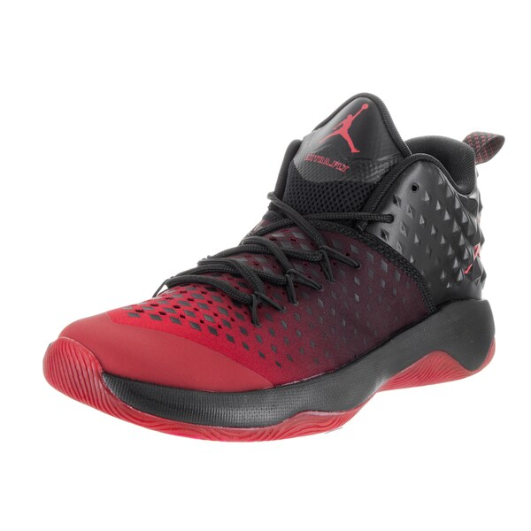 96329c80e24b Nike Men  x27 s Jordan Extra Fly Black and Red Synthetic Leather Basketball  Shoe