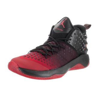 Nike Men's Jordan Extra Fly Black and Red Synthetic Leather Basketball Shoe