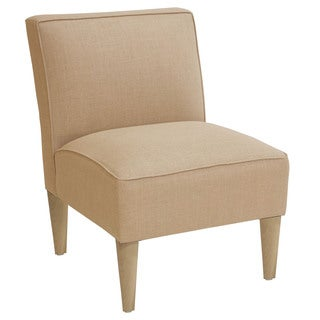 Skyline Armless, Linen-Upholstered Accent Chair