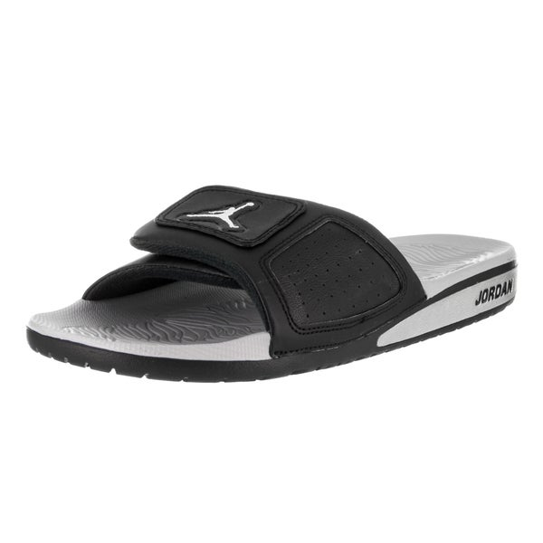 16214b2dbdc4c7 Shop Nike Jordan Men s Black Faux Leather Hydro III Retro Sandal ...