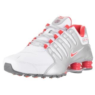 Nike Women's Shox NZ White Leather Running Shoes
