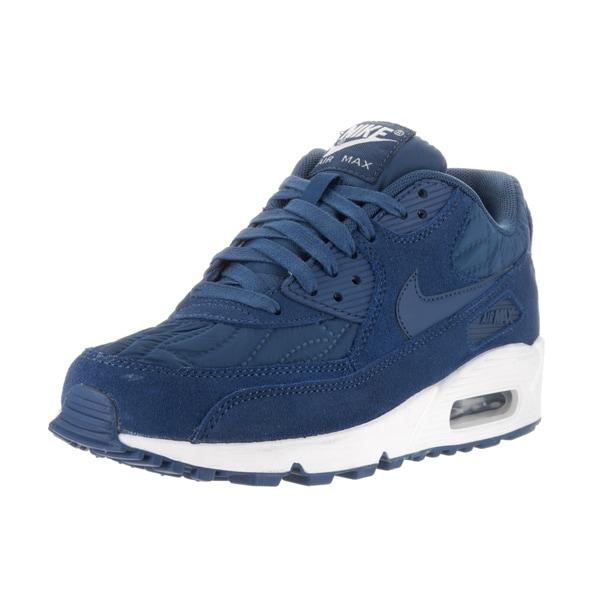 Shop Nike Women's Air Max 90 Prem Blue Suede Running Shoes