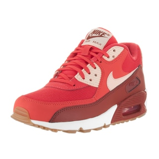 Nike Women's Air Max 90 Essential Red Synthetic Leather Running Shoes