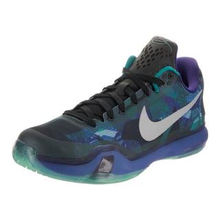 Nike Men's Blue Green Faux Leather Kobe X Basketball Shoe