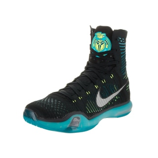 Nike Men's Kobe X Elite Black and Blue High-top Basketball Shoes