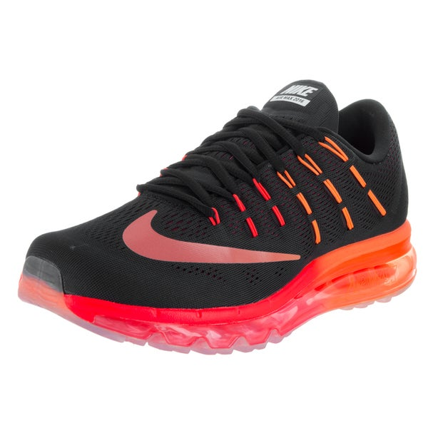 Shop Nike Men s Air Max 2016 Black Synthetic Leather Running Shoes ... 9c69ea74d0