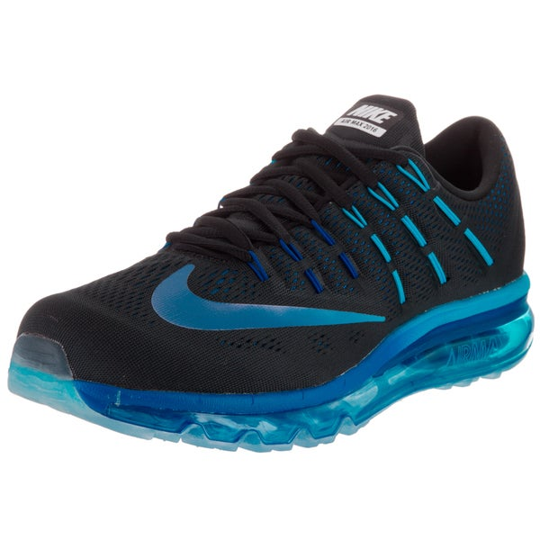 Shop Nike Men's Air Max 2016 Black Synthetic Leather Running