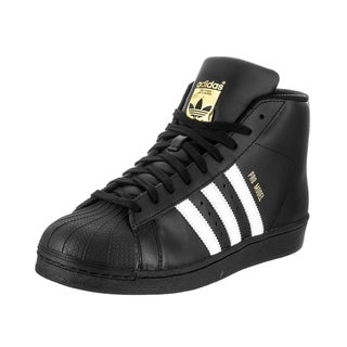 Adidas Men's Pro Model Originals Black Leather Basketball Shoes