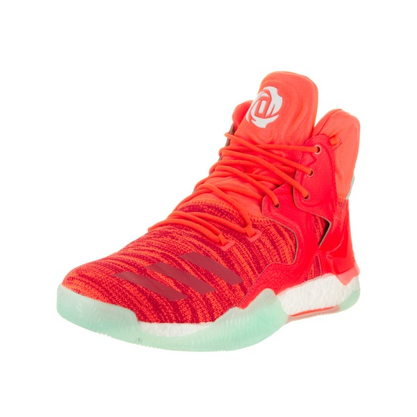 Shop Adidas Men's D Rose 7 Red Primeknit Basketball Shoes