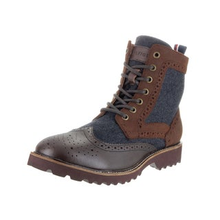 Tommy Hilfiger Men's Olympia Brown Leather Boots